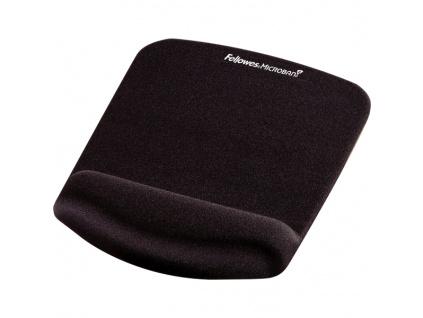 Podložka pod myš a zápěstí Fellowes PlushTouch černá, FELFERGWMPADPTN