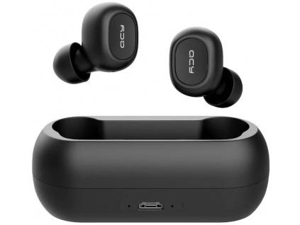 QCY T1C - bezdrátová BT sluchátka černá, 6957141405192