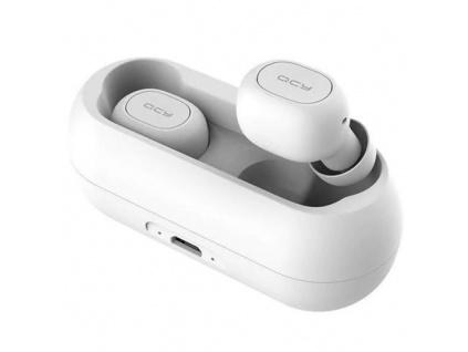 QCY T1C - bezdrátová BT sluchátka bílá, 6957141405789