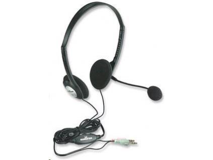 MANHATTAN Sluchátka s mikrofonem Stereo Headset, 164429
