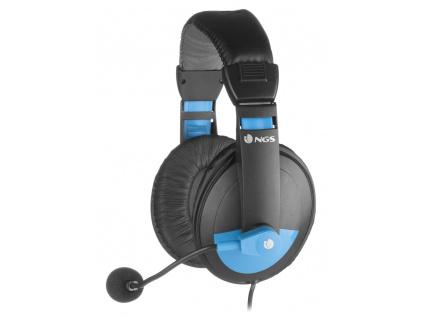 NGS headset MSX9 PRO BLUE/ Jack 3,5 mm/ Modrý, MSX9PROBLUE