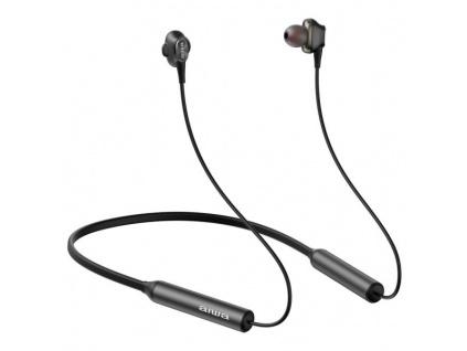 AIWA ESTBT-450BK/ Bezdrátová sluchátka s mikrofonem/ BT/ IPX4/ Černá, ESTBT-450BK