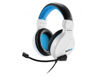 Sharkoon sluchátka RUSH ER3 bíle, 2x stereo jack, 4044951021802