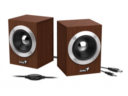 GENIUS repro SP-HF280/ 2.0/ 6W/ dřevěné/ barva dřevo, 31730028400