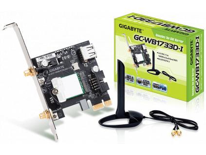 GIGABYTE PCI-E Wifi+BT 1733MBps 802.11a/b/g/n/ac, GC-WB1733D-I