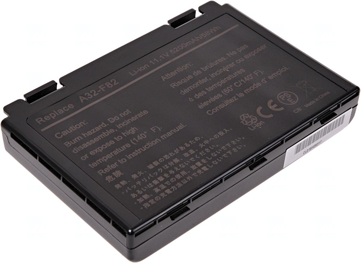 Baterie T6 power Asus K40, K41, K50, K51, K60, K61, K70, F52, F82, X5D, X70, X88, 6cell, 5200mAh, NB
