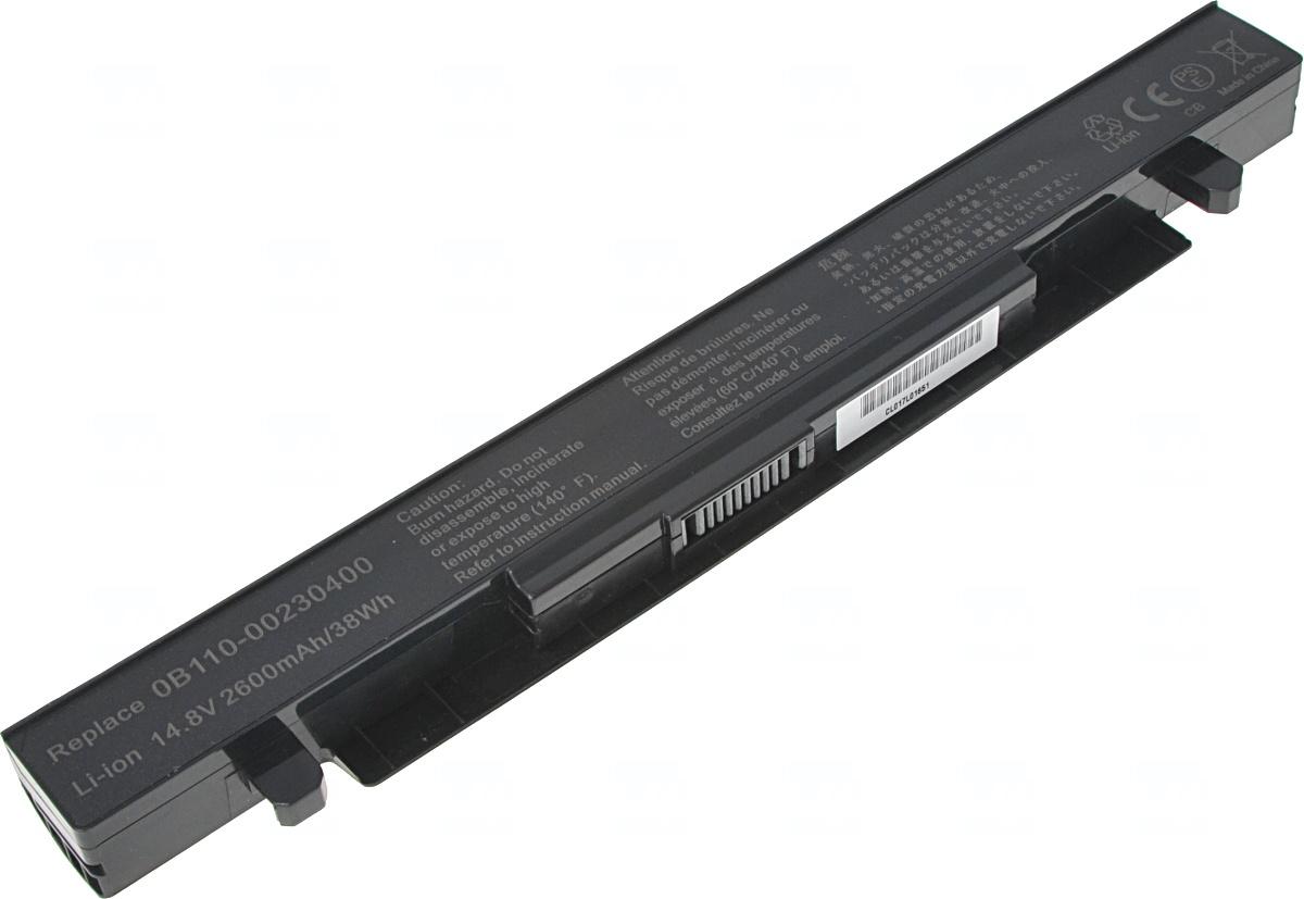 Baterie T6 power Asus X450, X550, X552, A450, A550, F450, F550, F552, R510, 2600mAh, 38Wh, 4cell, NB