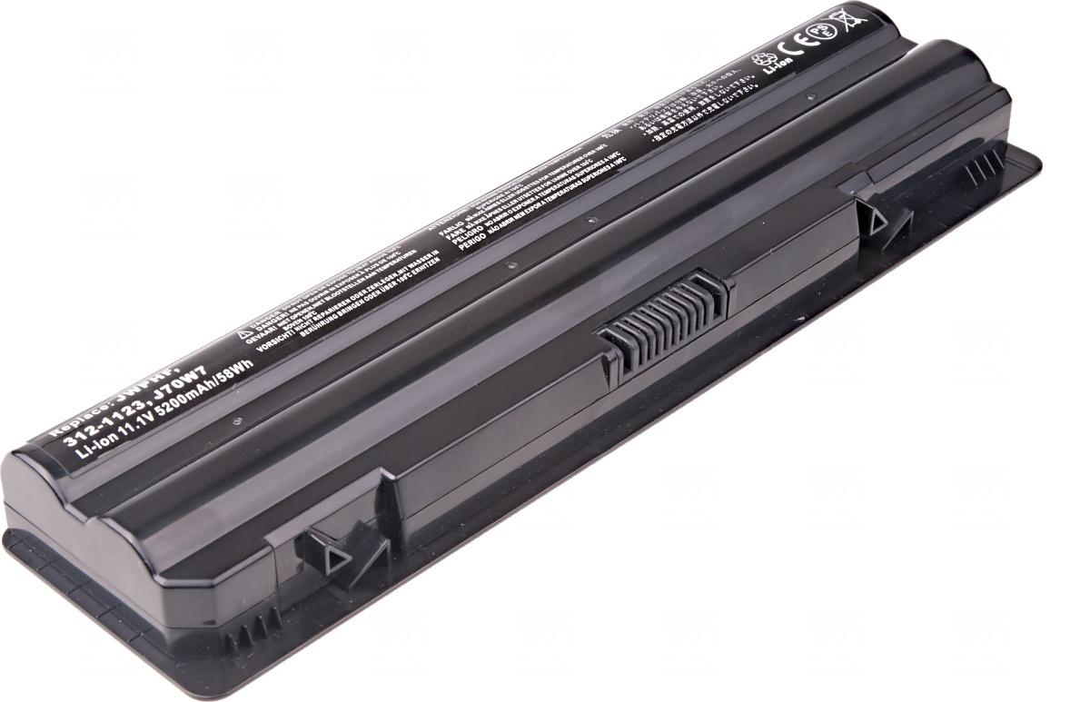 Baterie T6 power Dell XPS 14, 15, 17, L401X, L501X, L502X, L701X, L702X serie, 6cell, 5200mAh, NBDE0123
