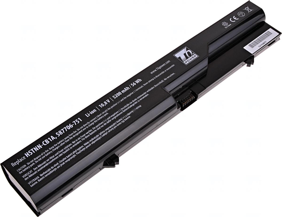 Baterie T6 power HP ProBook 4320s, 4420s, 4520s, HP 320, 325, 420, 620, 625, 6cell, 5200mAh, NBHP006