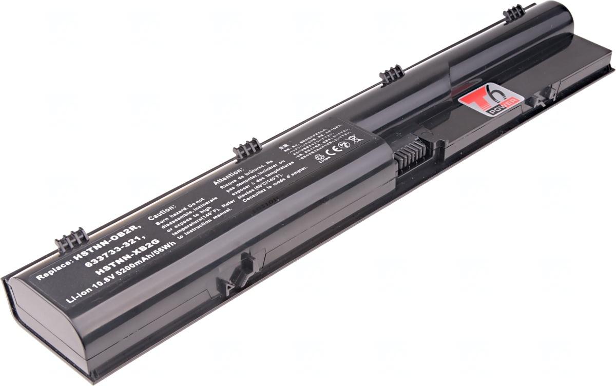 Baterie T6 power HP ProBook 4330s, 4430s, 4435s, 4440s, 4530s, 4535s, 4540s, 4545s, 6cell, 5200mAh, NBHP0074