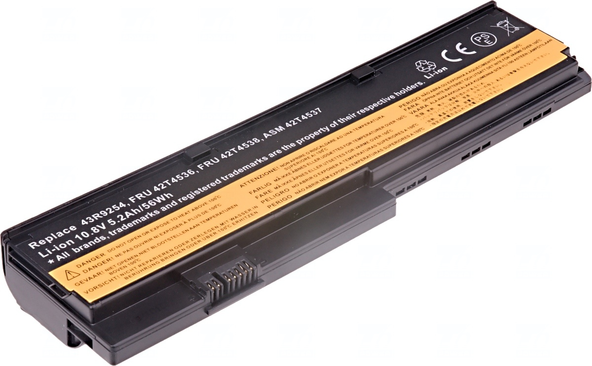 Baterie T6 power Lenovo ThinkPad X200, X200s, X201, X201i, X201s, 6cell, 5200mAh, NBIB0063