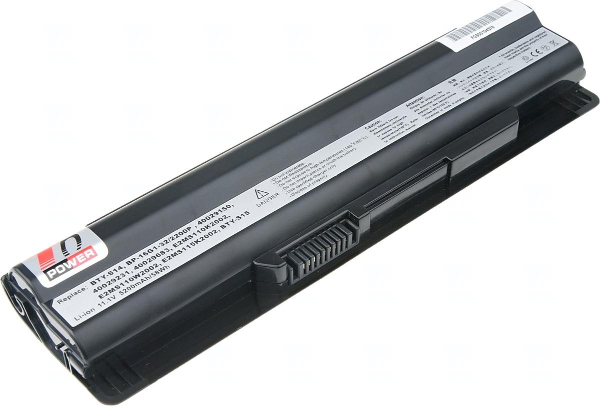 Baterie T6 power MSI CX650, FR610, FR620, FR700, FX400, FX600, FX610, FX620, FX700, 6cell, 5200mAh,