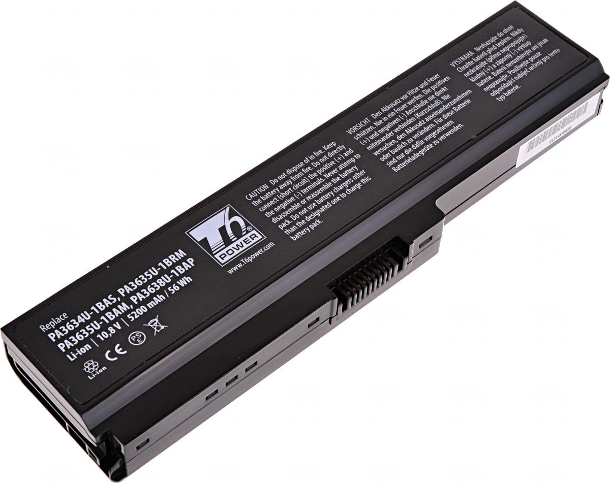 Baterie T6 power Toshiba Satellite A660, C650, L510, L630, L650, L670, U400, U500, 6cell, 5200mAh, NBTS0075