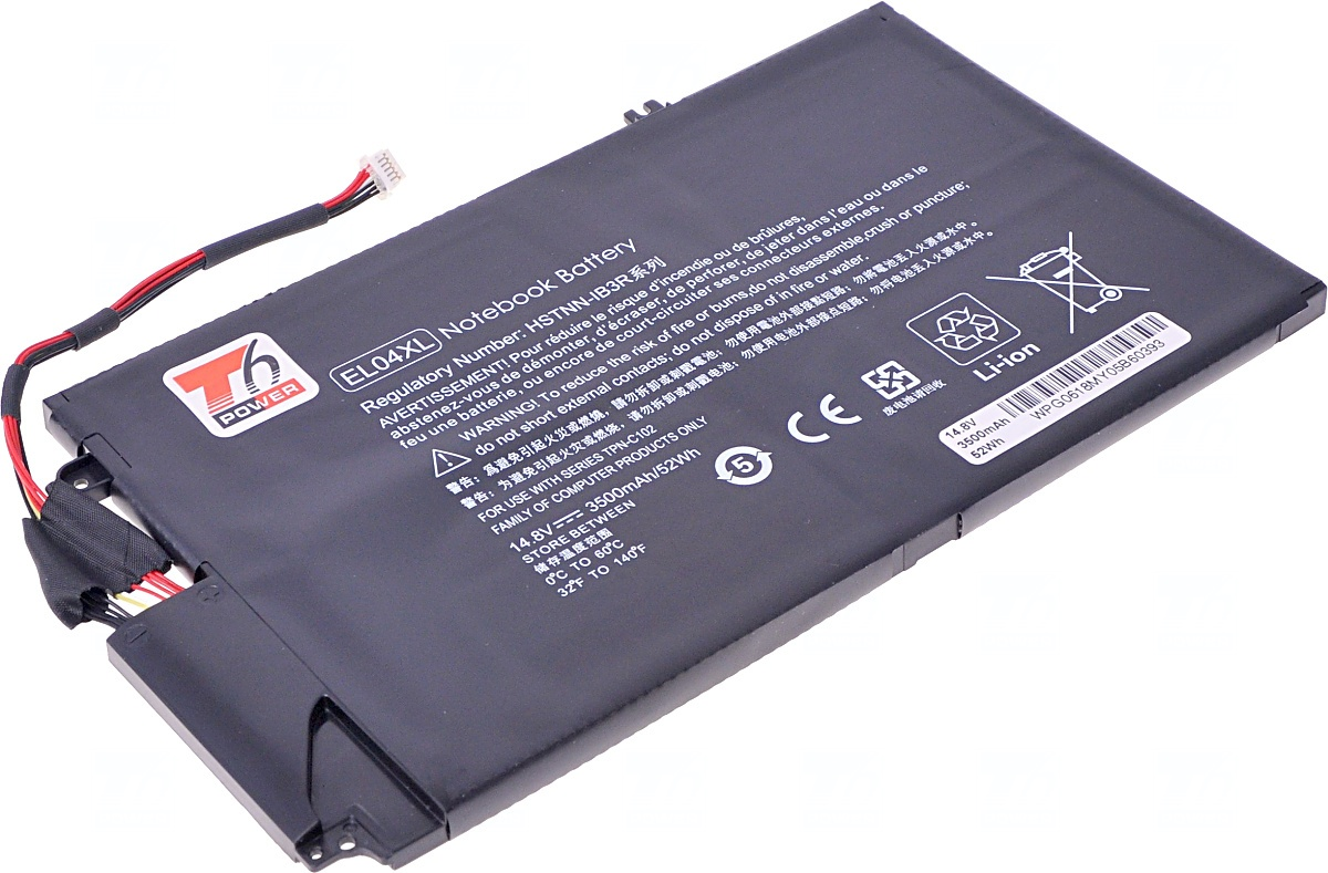 Baterie T6 power HP Envy 4-1000, Envy 4-1100, Envy 4-1200 serie, 3500mAh, 52Wh, 4cell, Li-pol, NBHP0