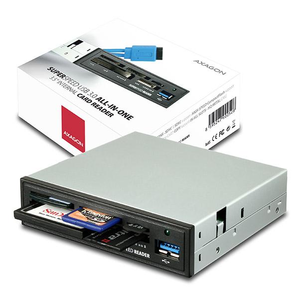 AXAGO AXAGON CRI-S3, USB 3.0 interní 3.5'' čtečka 5-slot ALL-IN-ONE, CRI-S3