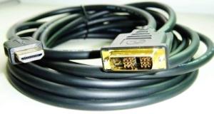 GEMBIRD Kabel HDMI-DVI 3m,M/M stín.,zlacené kontakty 1.3, CC-HDMI-DVI-10