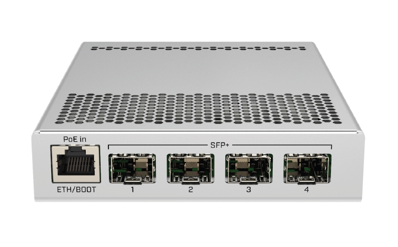 MikroTik Cloud Router Switch CRS305-1G-4S+IN, Dual Boot (SwitchOS, RouterOS), CRS305-1G-4S+IN