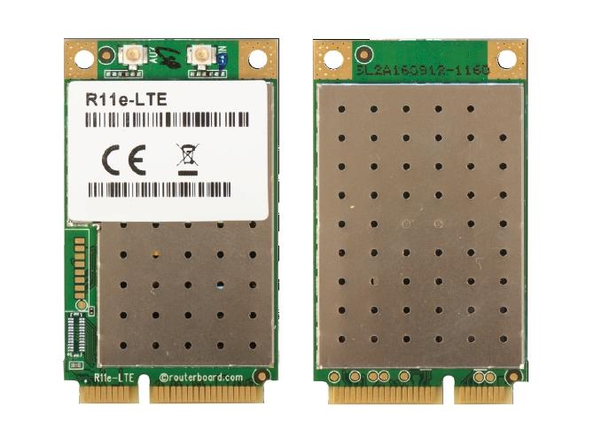 Mikrotik R11e-LTE 2G/3G/4G/LTE miniPCI-e modul, R11e-LTE