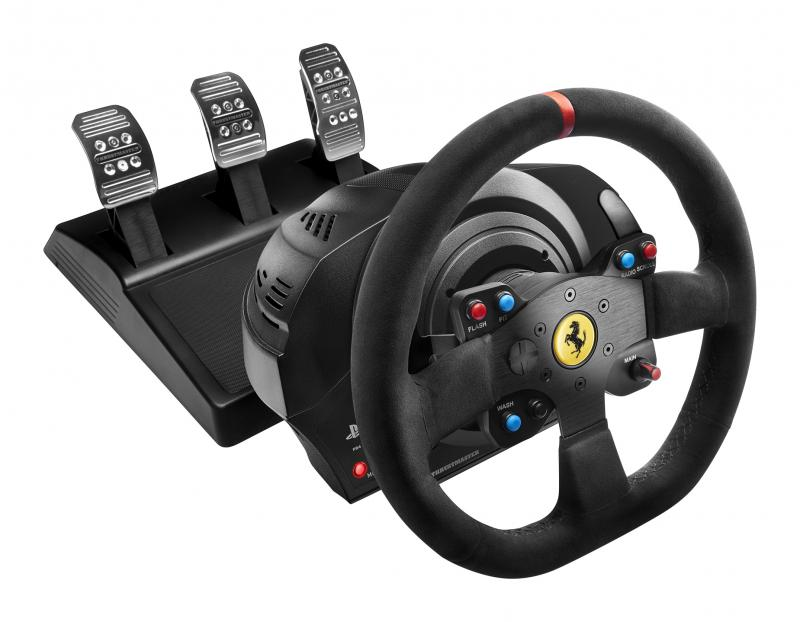 Thrustmaster Sada volantu a pedálů T300 Ferrari 599XX EVO pro PS3, PS4 a PC, 4160652