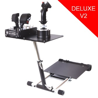 NONAME Wheel Stand Pro DELUXE V2, stojan na joystick pro Thrustmaster HOTAS WARTHOG, Saitek X55/Saitek X52, WARTHOG