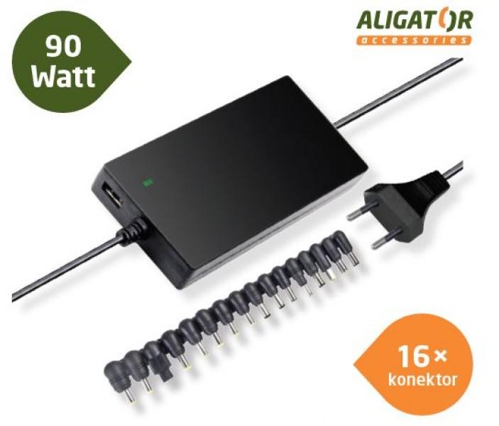 Aligator Univerzální adaptér k notebooku 90W+16 konektorů, NTA9010