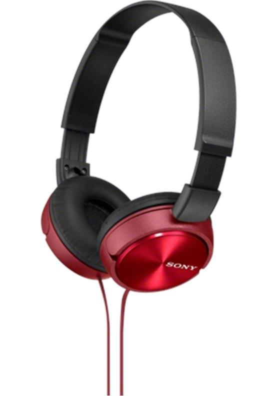 SONY sluchátka MDR-ZX310 červené, MDRZX310R.AE