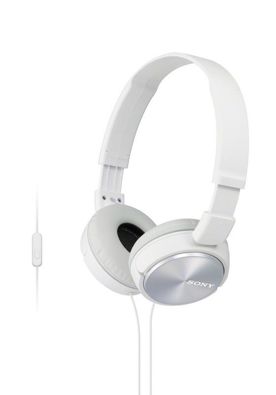SONY sluchátka MDR-ZX310AP, handsfree, bílé, MDRZX310APW.CE7