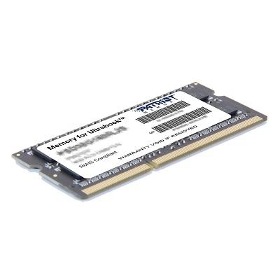 PATRIOT Ultrabook 4GB DDR3 1600MHz / SO-DIMM / CL11 / PC3-12800 / 1,35V, PSD34G1600L2S