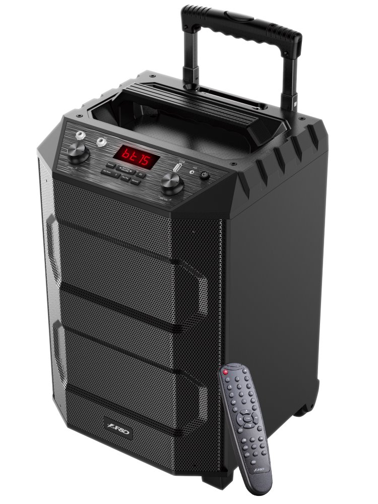 FENDA F&D párty repro T5/ trolejové/ 33W/ BT4.2/ USB přehrávání/ FM rádio/ bezdrátový mikrofon/ dálkové ovládání, T5