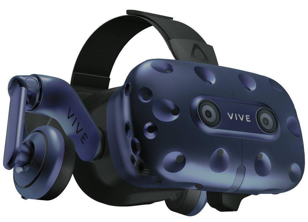 HTC VIVE PRO Full kit Brýle pro virtuální realitu/ 2x externí snímače pohybu / 2x ovládač / link box / kompletní kabeláž, 99HANW003-00