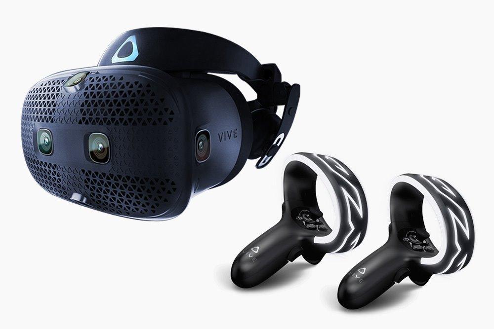 HTC Vive COSMOS Brýle pro virtuální realitu / 6x interní snímací kamera / 2x ovládač / link box / kompletní kabeláž, 99HARL002-00