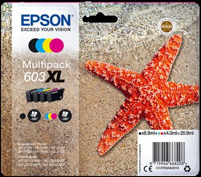 Epson multipack 4-colours 603XL, C13T03A64010