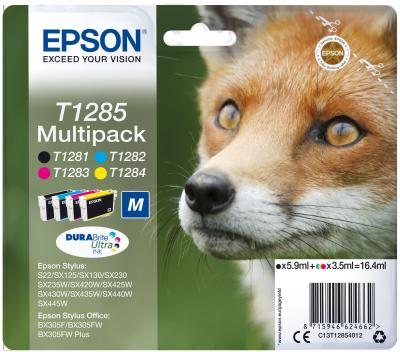 EPSON Multipack CMYK Ink Cartridge (T1285), C13T12854012