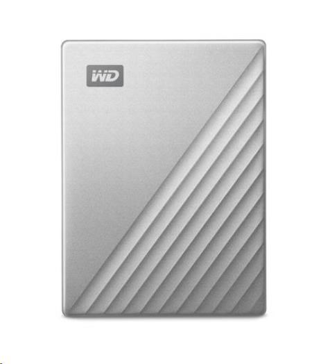 """Western Digital WD My Passport ULTRA 1TB Ext. 2.5"""" USB3.0 Silver USB-C, WDBC3C0010BSL-WESN"""