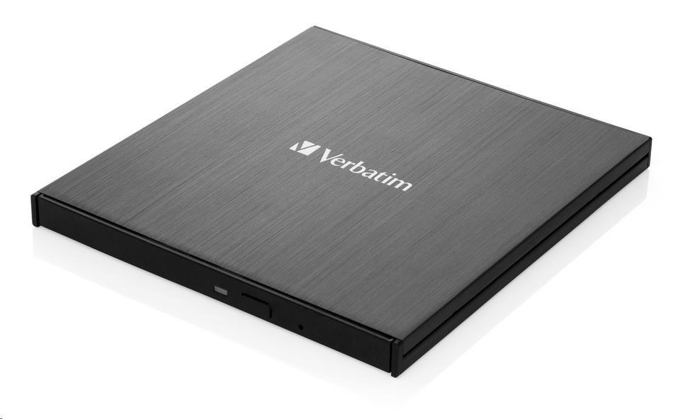 VERBATIM externí mechanika Ultra HD 4K Blu-ray External Slimline Writer (USB 3.1, USB-C) + zdarma 25GB MDISC, 43888