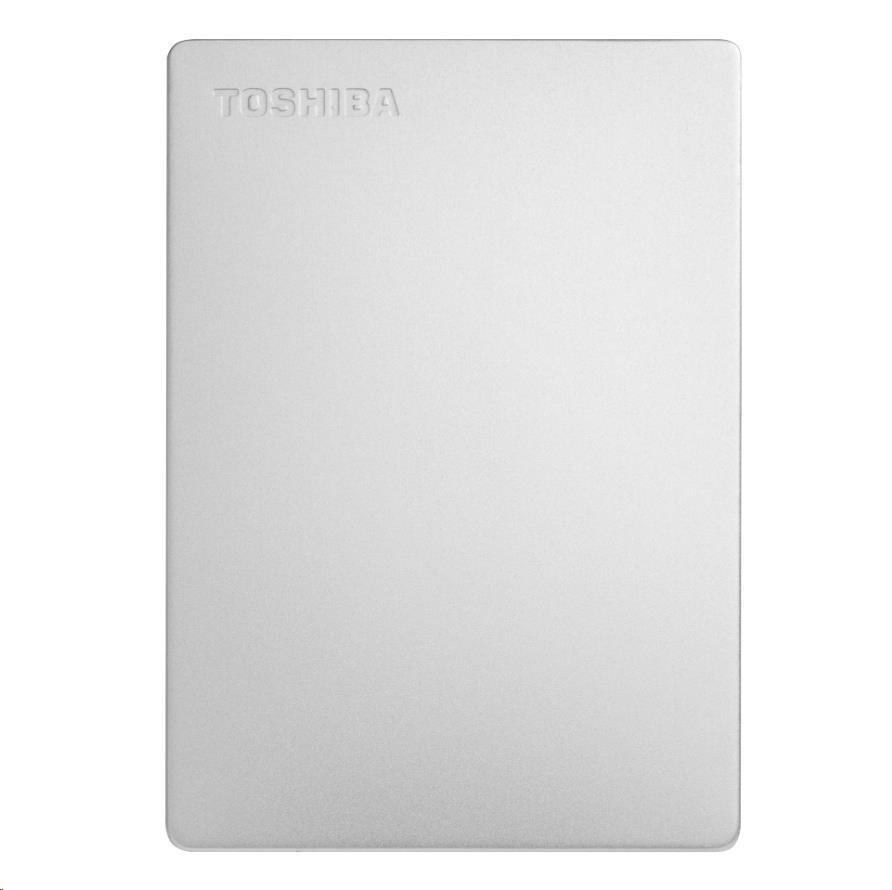 "TOSHIBA HDD CANVIO SLIM 2TB, 2,5"", USB 3.2 Gen 1, stříbrná / silver, HDTD320ES3EA"
