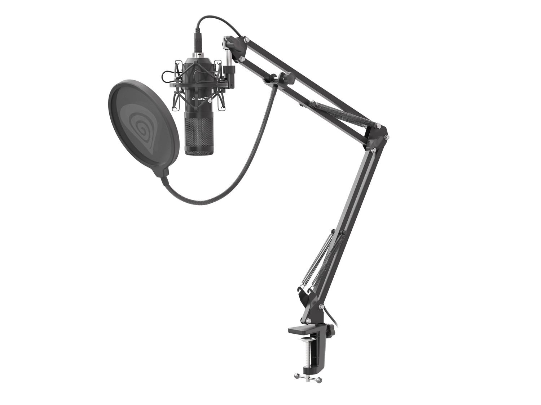 Streamovací mikrofon Genesis Radium 400, USB, kardioidní polarizace, ohybné rameno, pop-filter, NGM-1377