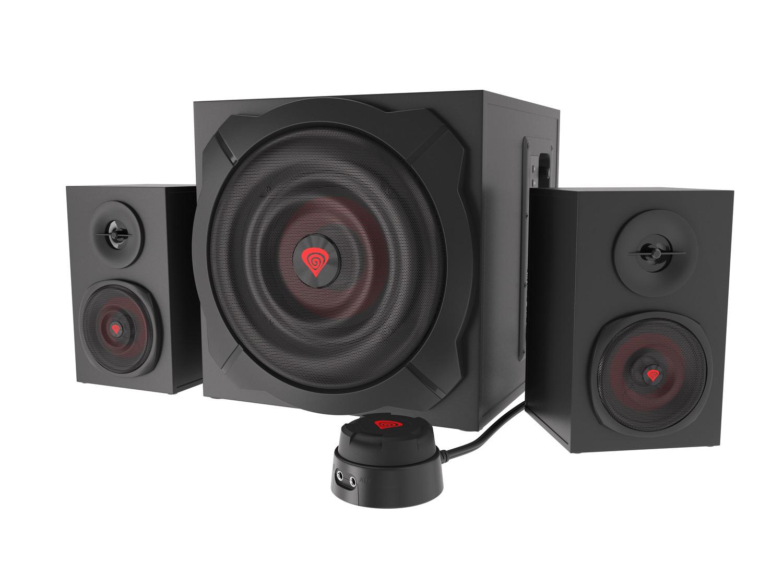 Reproduktory 2.1 60W GENESIS HELIUM 610BT, drátové + bezdrátové připojení Bluetooth, dřevo, NCS-1408