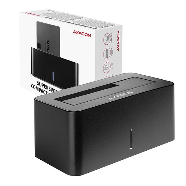 AXAGON ADSA-SN, USB 3.2 Gen1 - SATA 6G, 2.5''/3.5'' HDD/SSD dokovací stanice, ADSA-SN