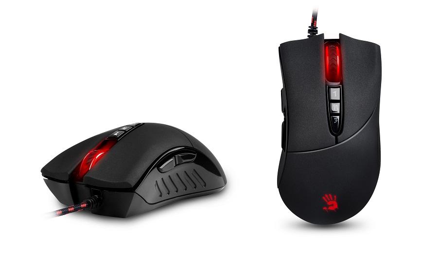 A4tech BLOODY V3 herní myš, až 3200DPI, V-Track technologie, 160KB paměť, USB, CORE 2, kovové podložky, V3M