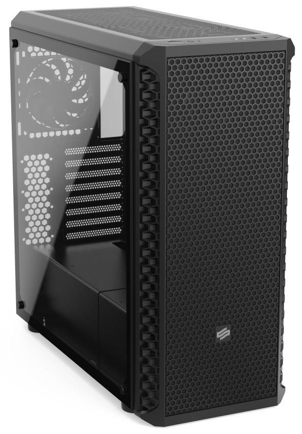 SILENTIUM PC SilentiumPC skříň MidT Signum SG7V TG Pure Black / 2x USB 3.0 / 4x 120mm fan / tvrzené sklo / černá, SPC249