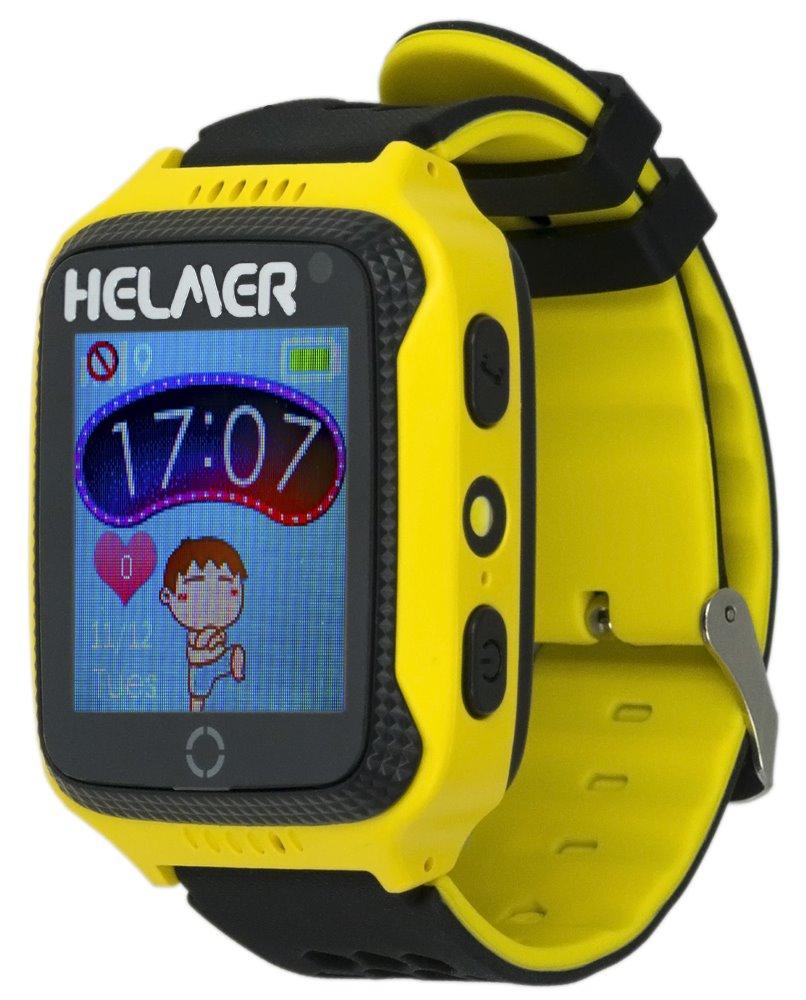 HELMER dětské hodinky LK 707 s GPS lokátorem/ dotykový display/ IP65/ micro SIM/ kompatibilní s Android a iOS/ žluté, Helmer LK 707 Y