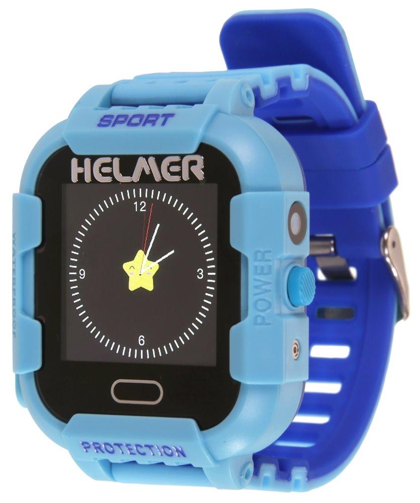 HELMER dětské hodinky LK 708 s GPS lokátorem/ dotykový display/ IP67/ micro SIM/ kompatibilní s Android a iOS/ modré, Helmer LK 708 B