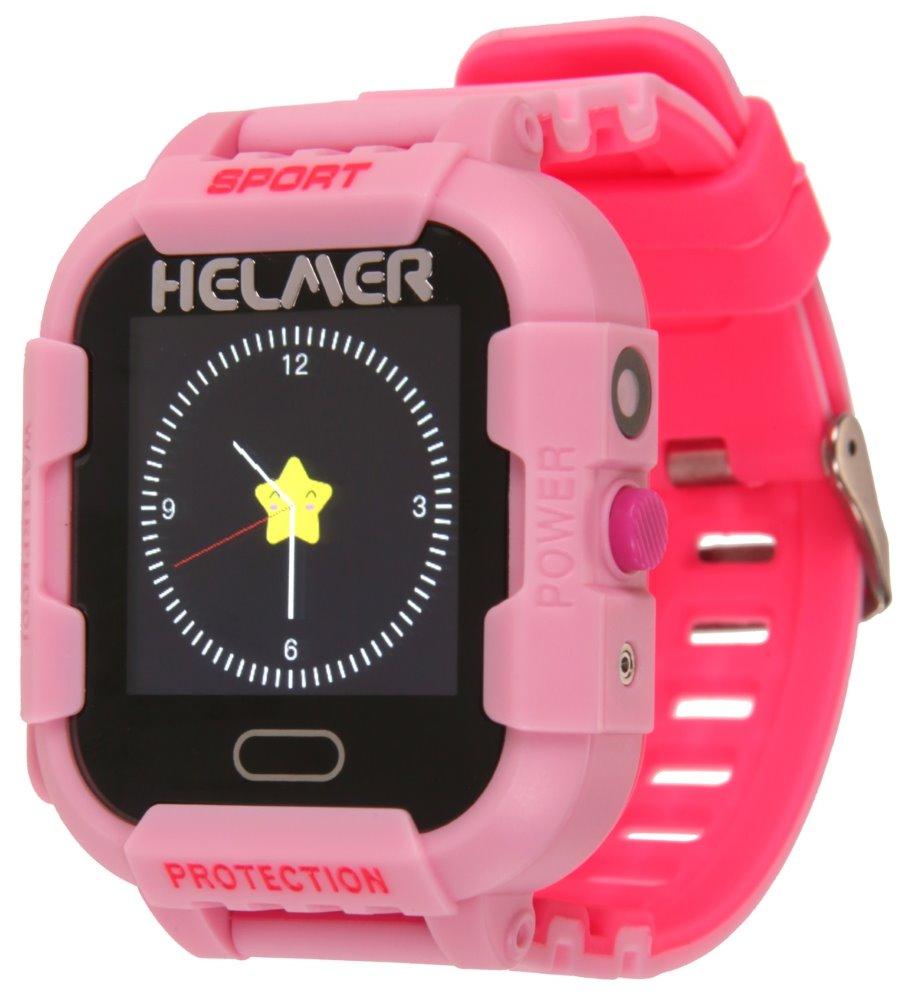 HELMER dětské hodinky LK 708 s GPS lokátorem/ dotykový display/ IP67/ micro SIM/ kompatibilní s Android a iOS/ růžové, Helmer LK 708 P