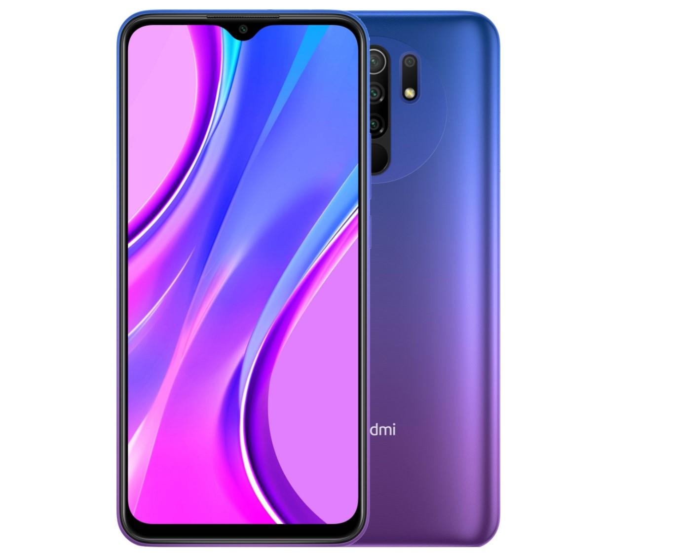 XIAOMI Redmi 9 fialový 4GB/64GB mobilní telefon (Sunset Purple, USB-C, 6.53in, 5020mAh, CZ distribuce), 28426