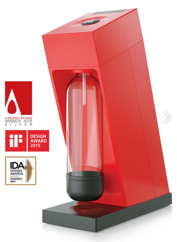 LIMO BAR výrobník sody Edge - červený