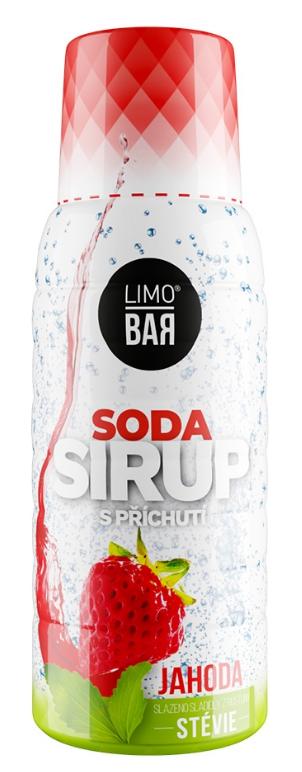 Limo Bar sirup Jahoda Stévia 500 ml