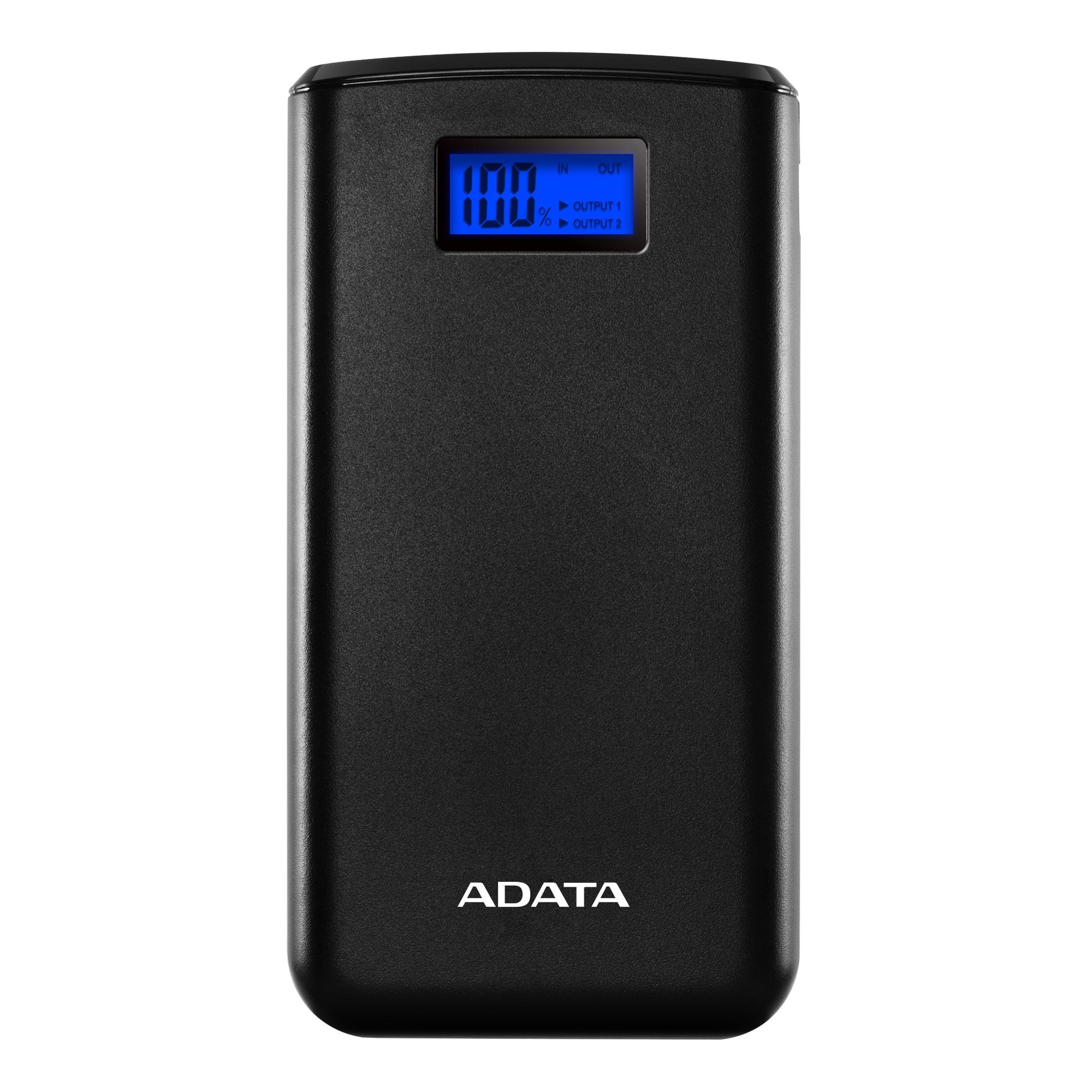 ADATA S20000D Power Bank 20000mAh černá, AS20000D-DGT-CBK