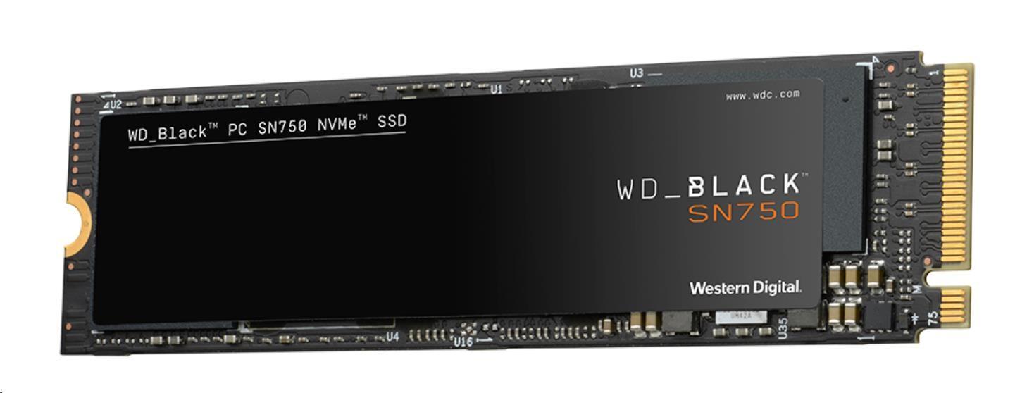 Western Digital WD BLACK SSD NVMe 500GB PCIe SN750,Gen3 8 Gb/s, (R:3470, W:2600MB/s)+Chladič, WDS500G3XHC