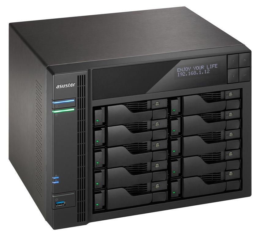 """Asustor NAS AS7010T-I5 / 10x 2,5""""/3,5"""" SATA III/ Intel i5-4590S 3.0GHz/ 8 GB/ 2x GbE/ 3x USB 3.0/ 2x USB 2.0/ eSATA, AS7010T-I5"""